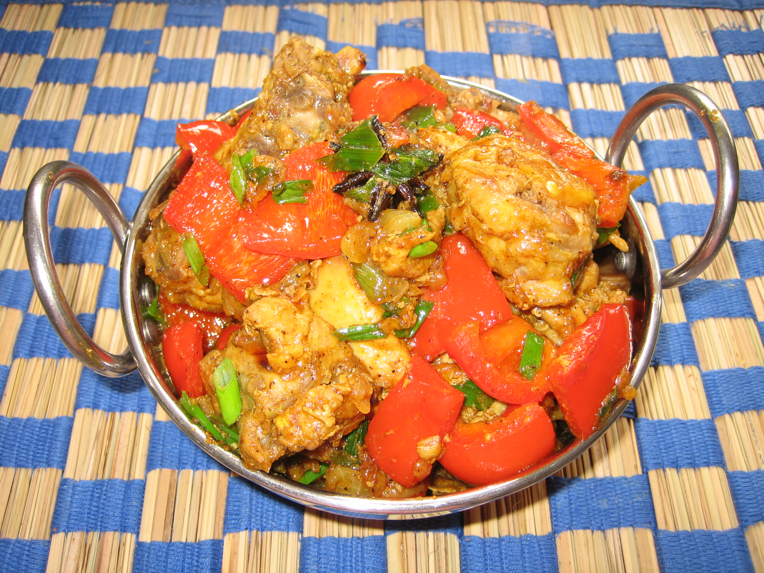 Bell pepper Chicken fry