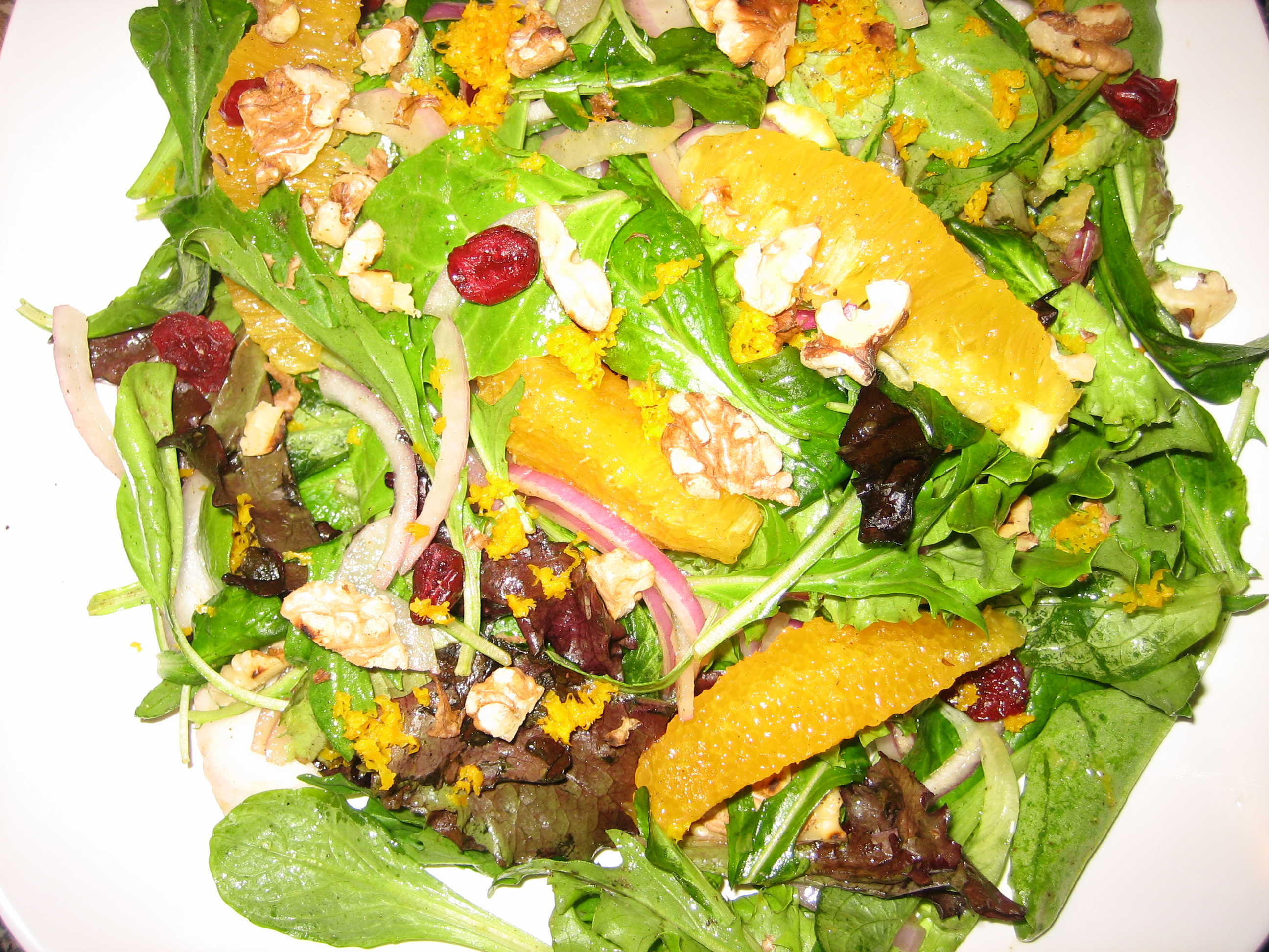 Zesty orange salad