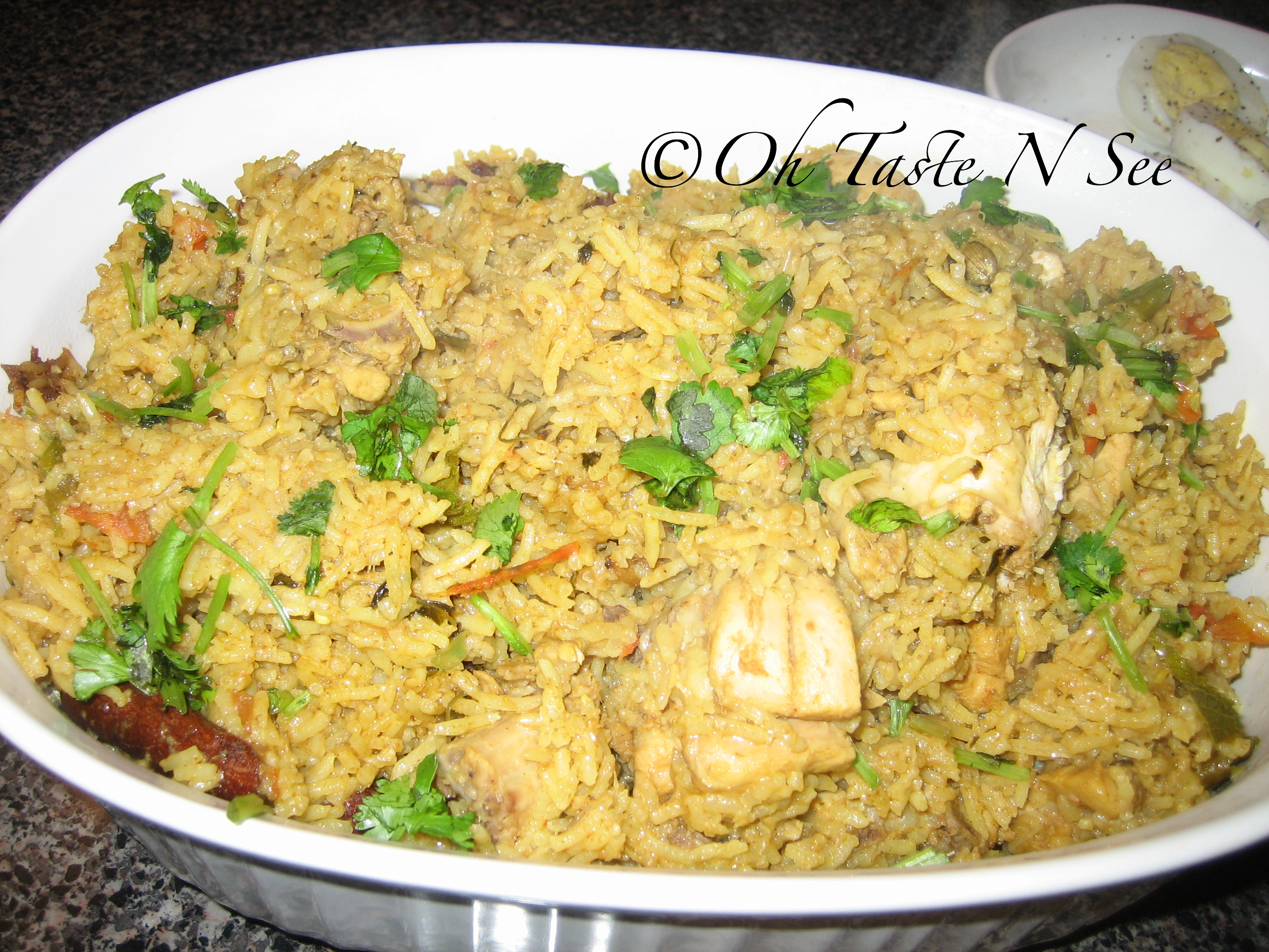 Chicken Briyani - North Indian Style