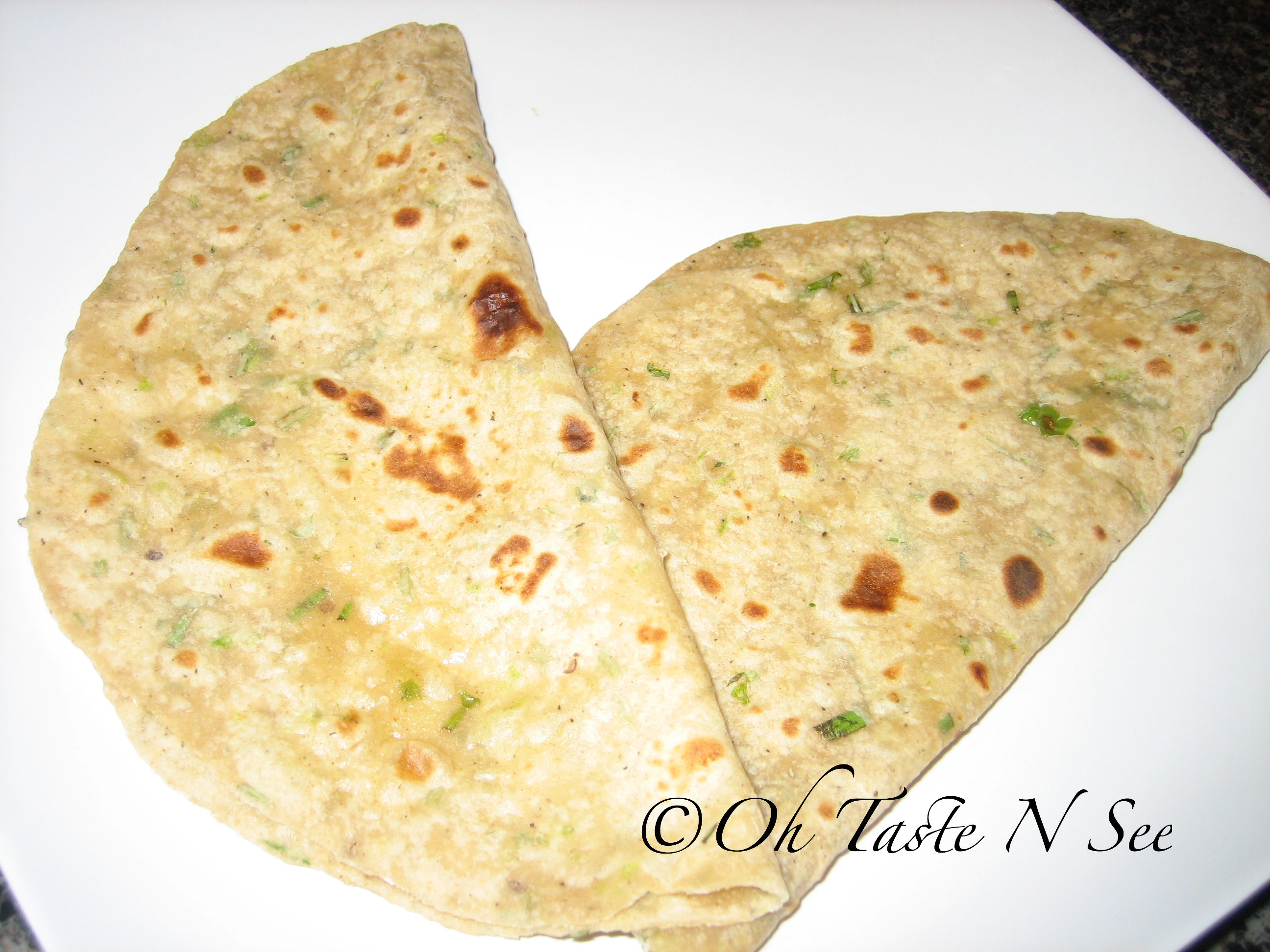 Rosemary Scallion Paratha