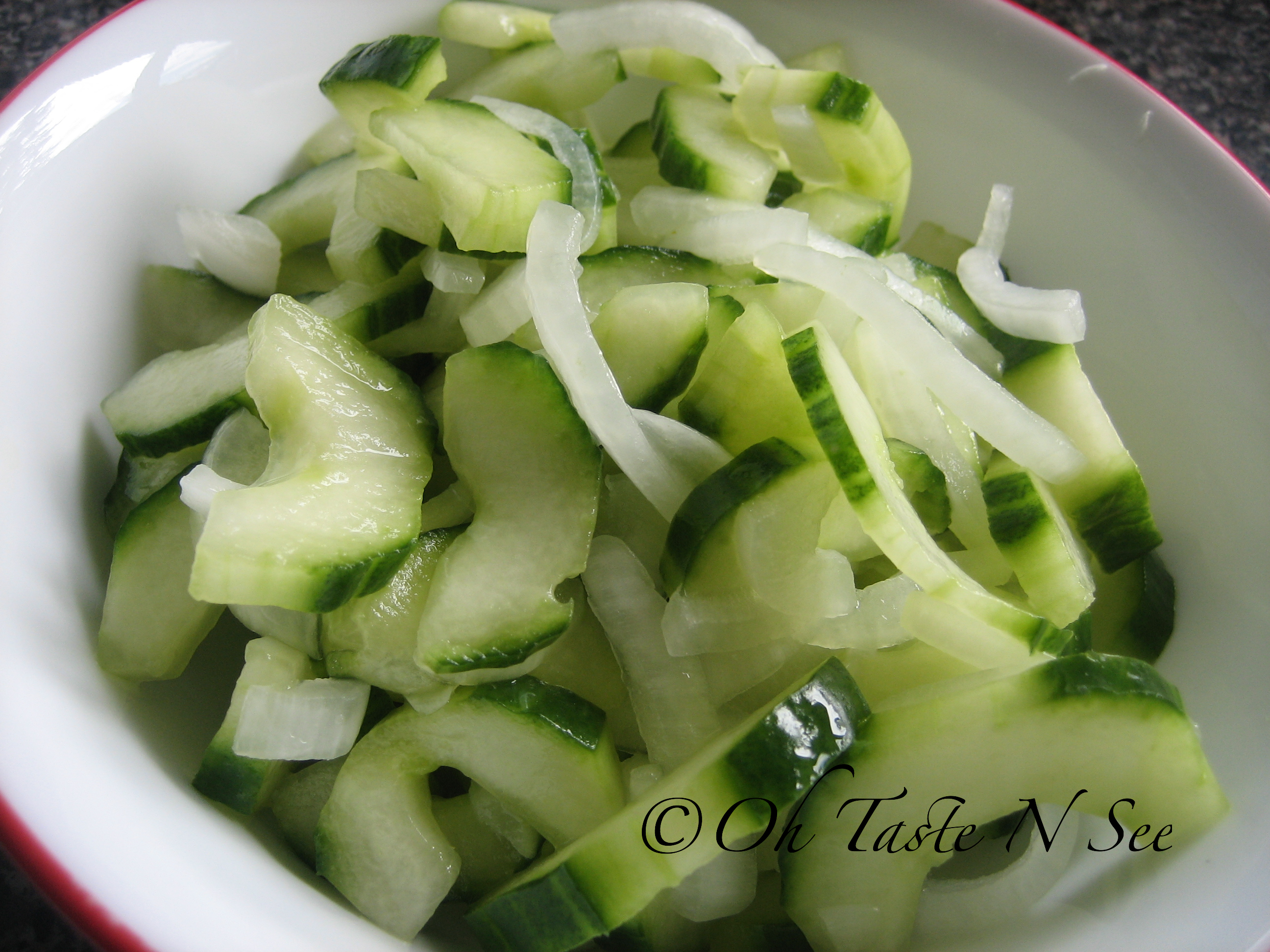 Burmese Cucumber Onion Salad