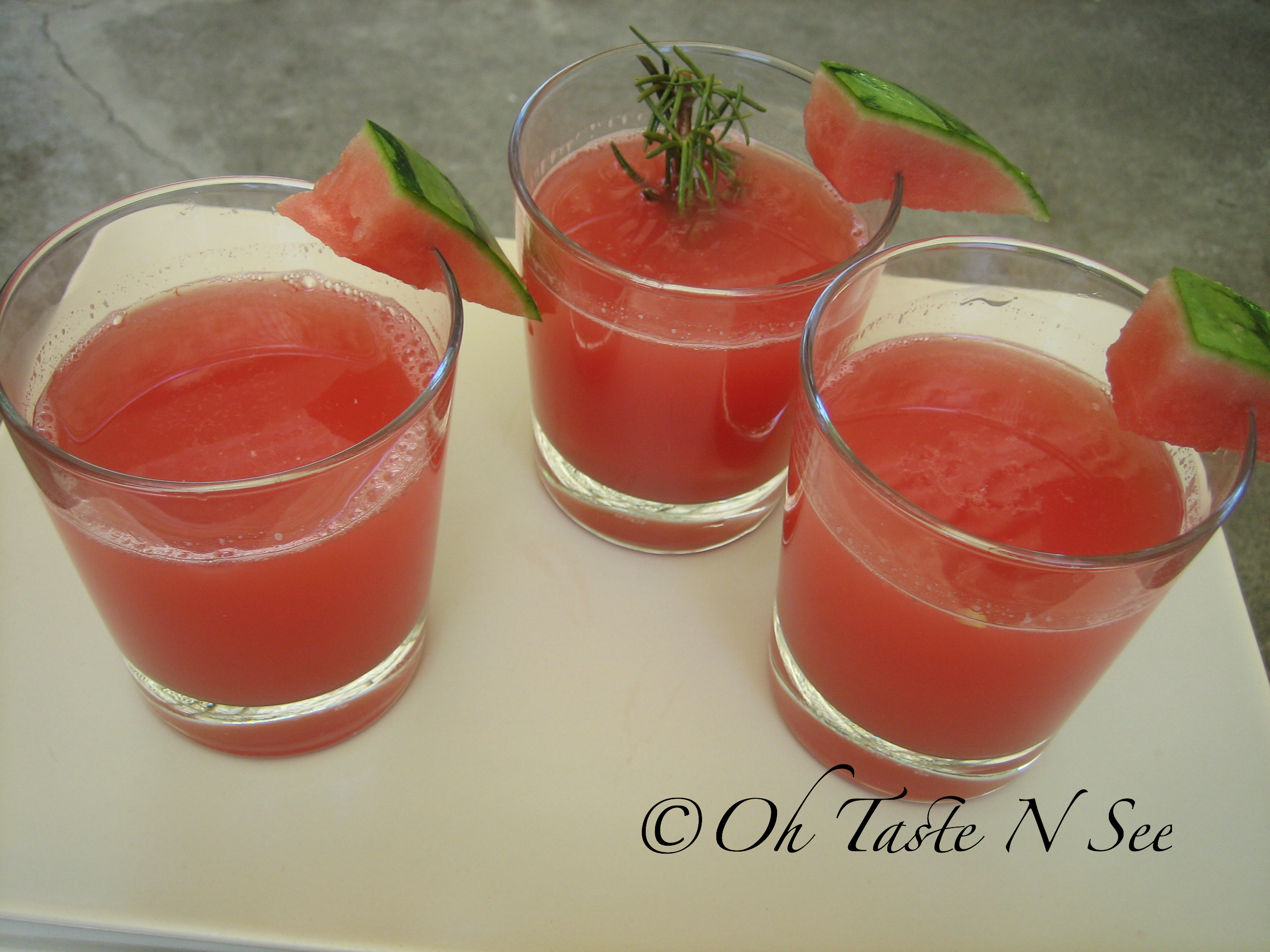 Rosemary Watermelon mocktail