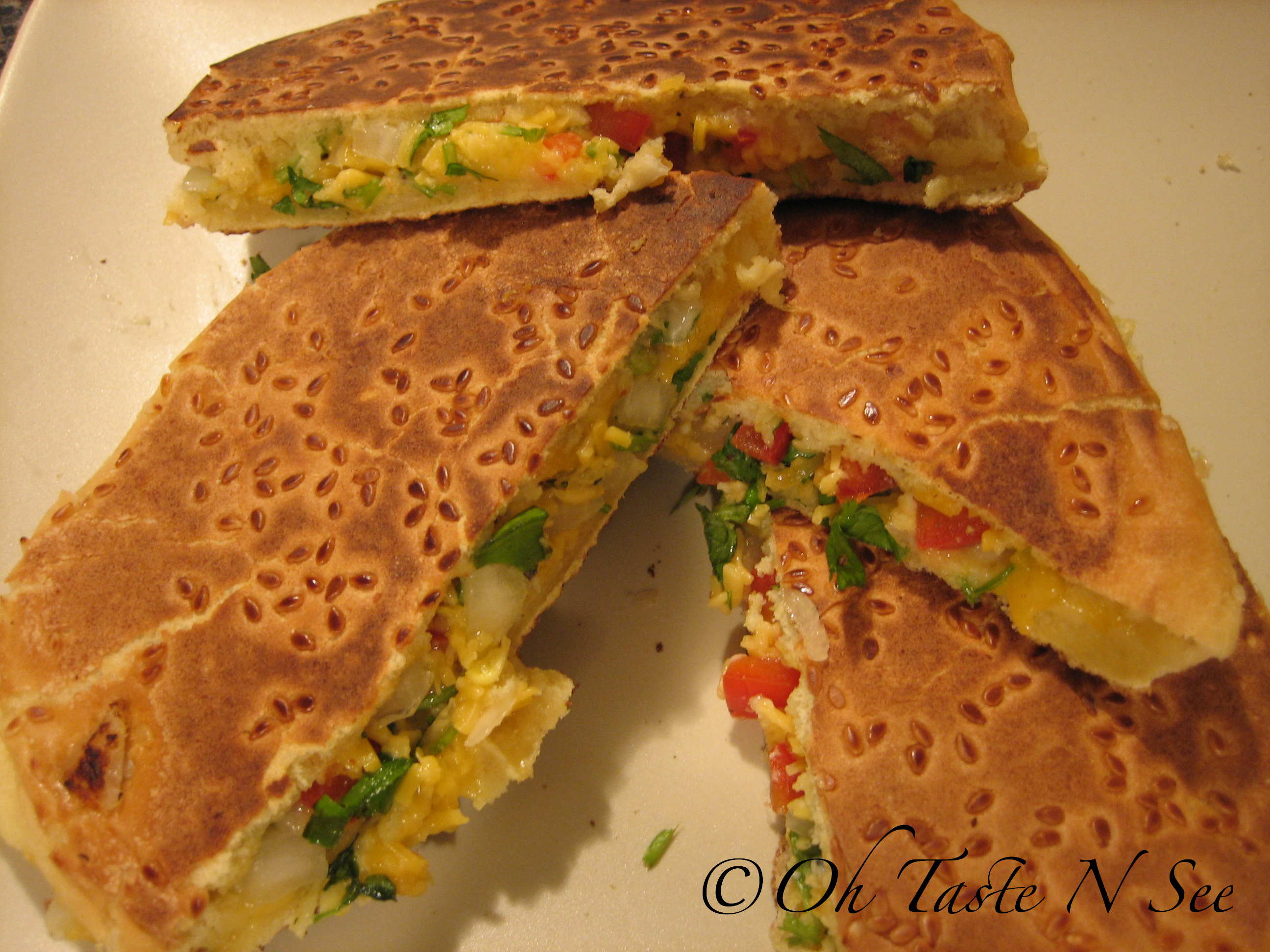 Indianized Grilled Cheese Sandwiches