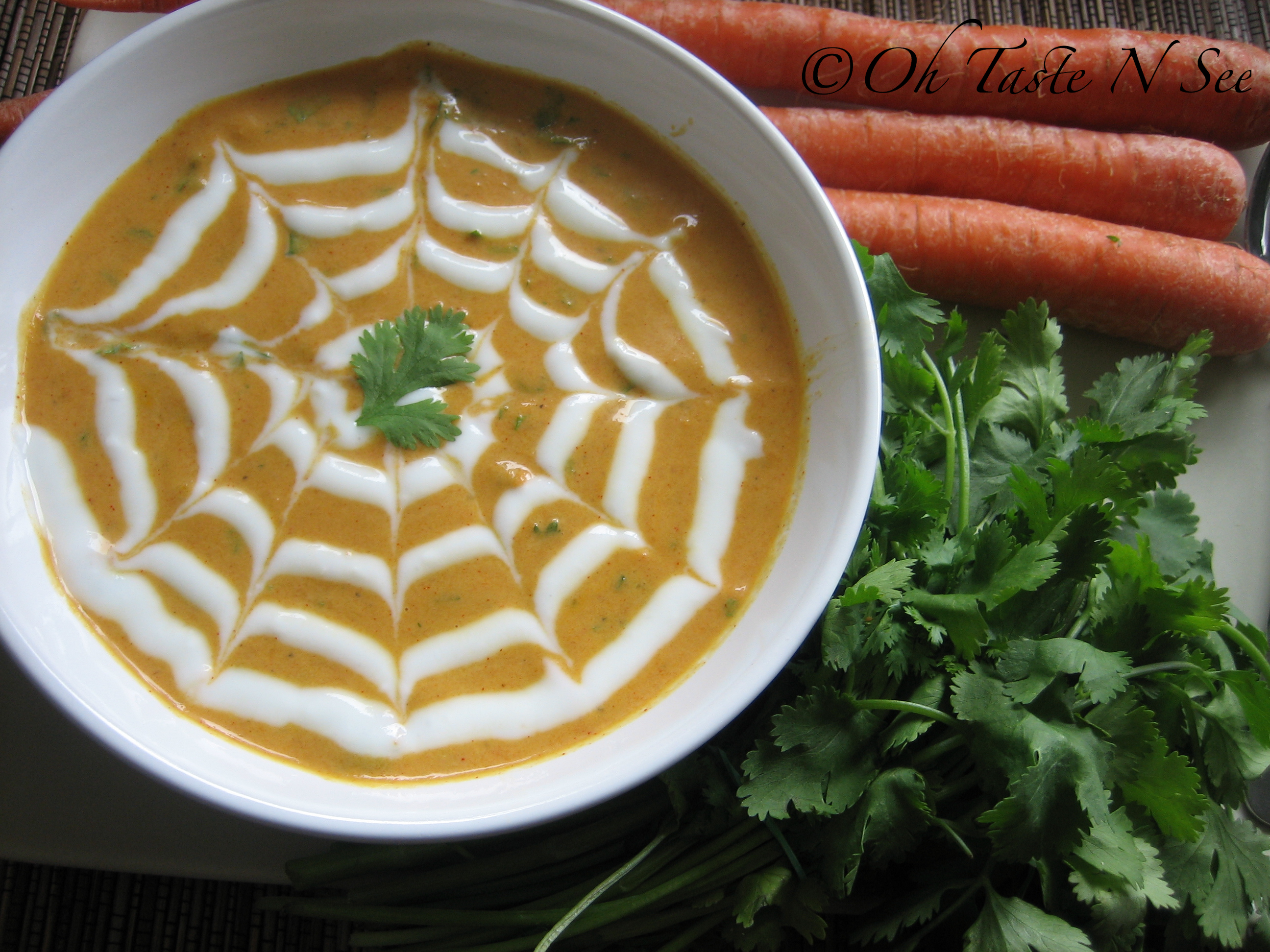 Chilled Carrot Coriander Soup
