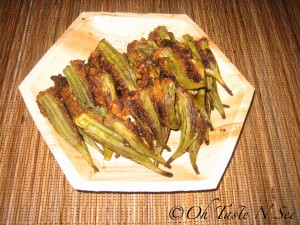 Baked Stuffed Okra