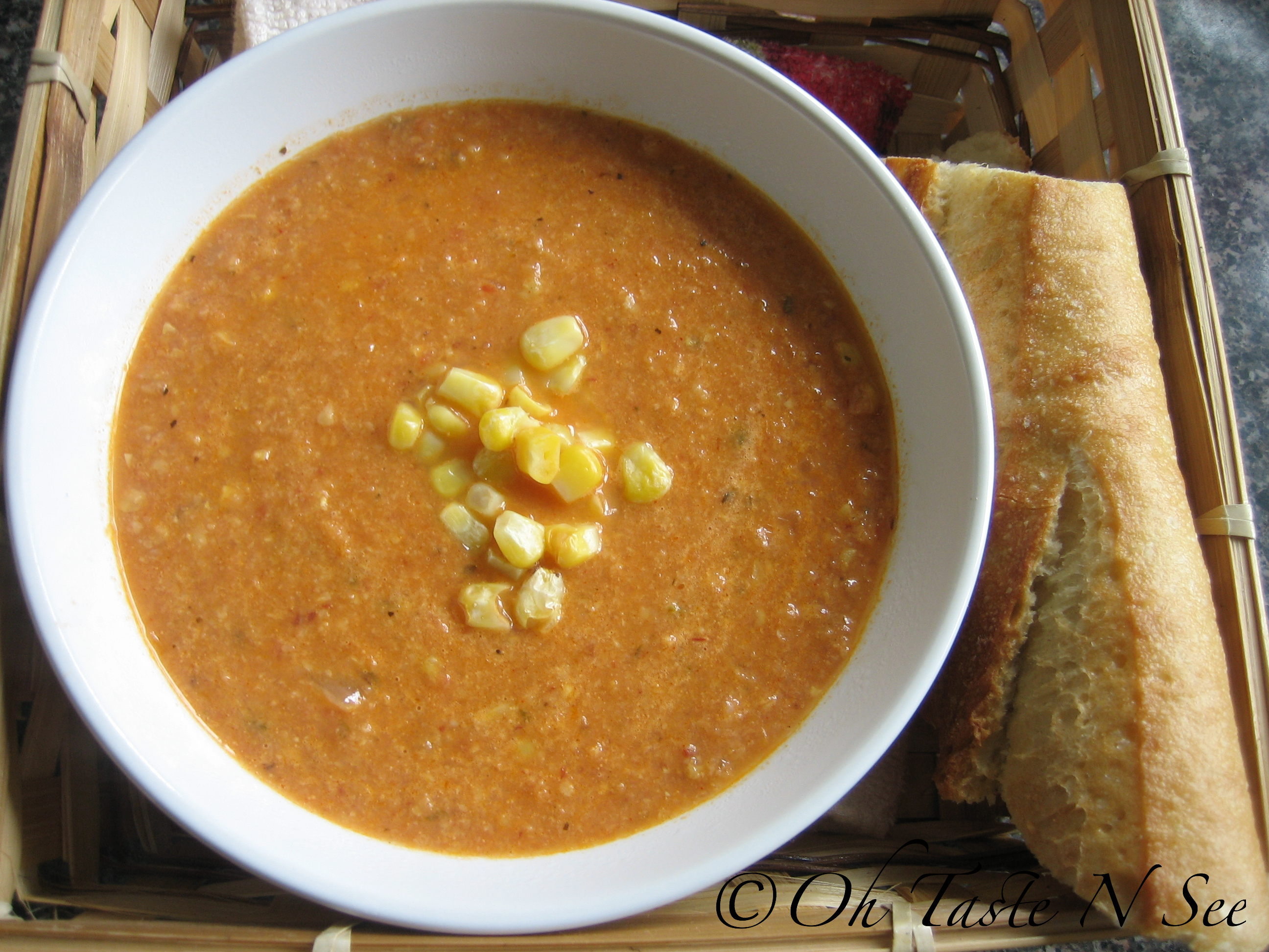 Chipotle Corn Tomato soup