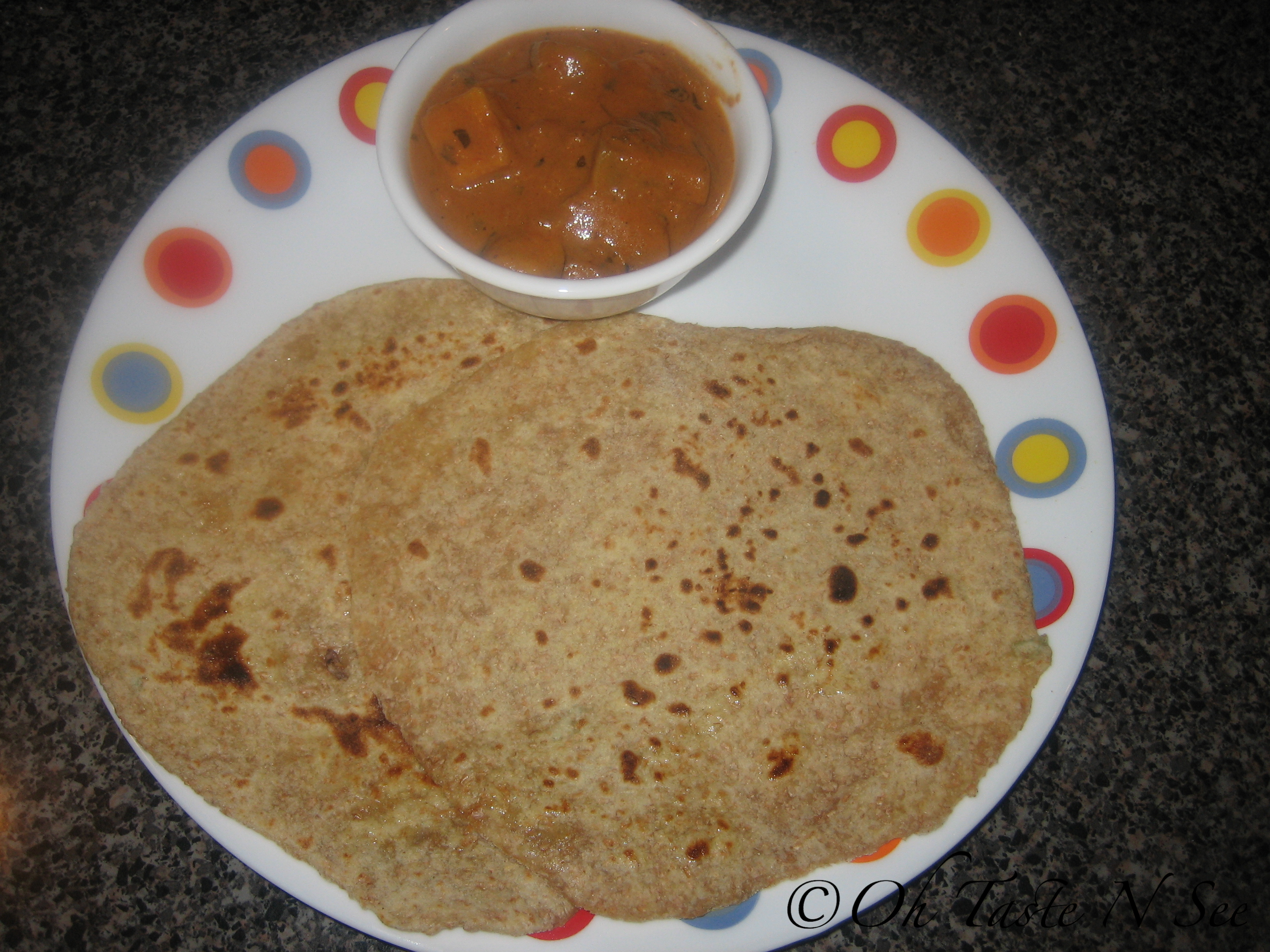 Turnip Wheat Bran Paratha 1