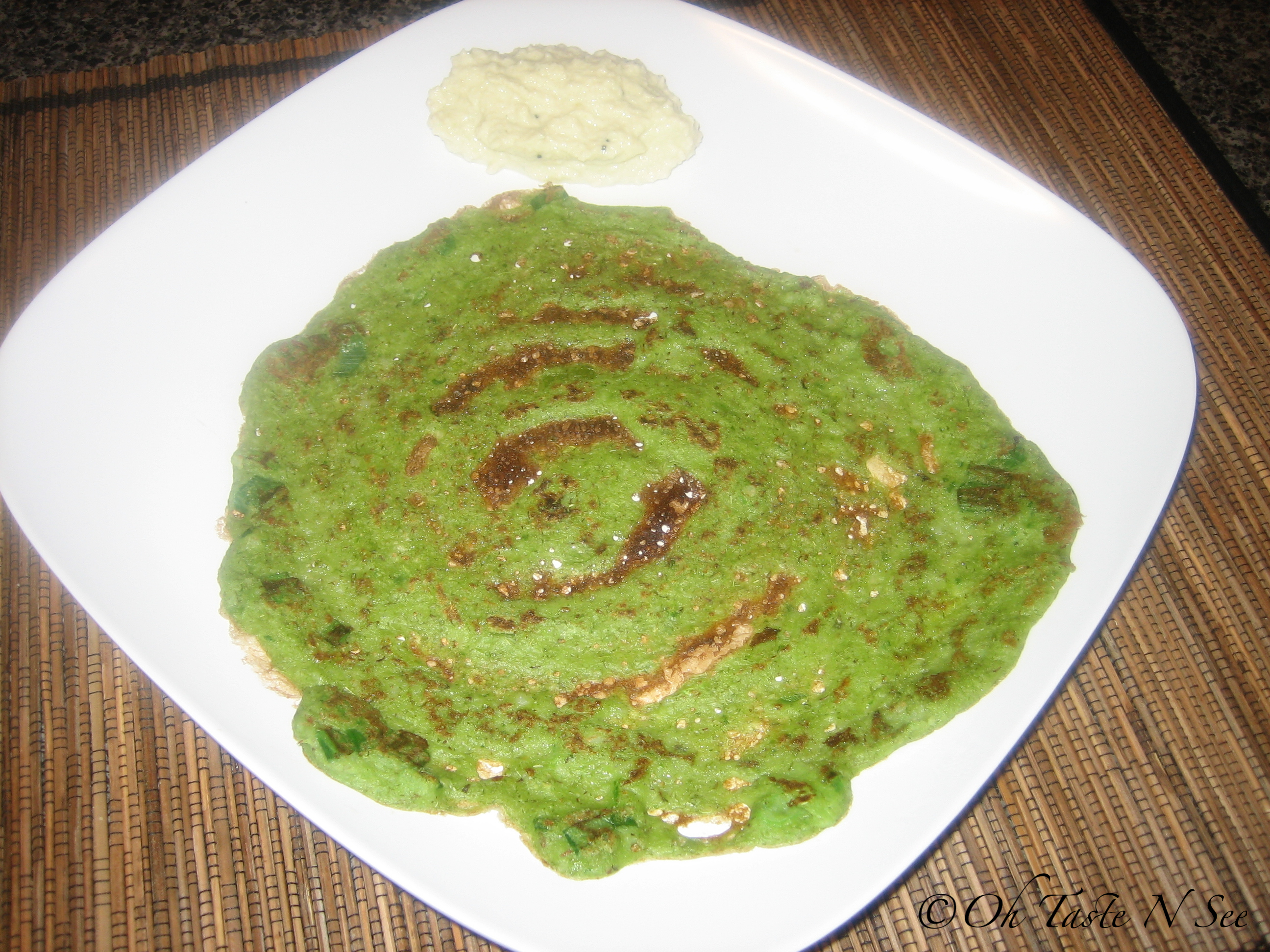 Spinach Scallion Pesarettu 2