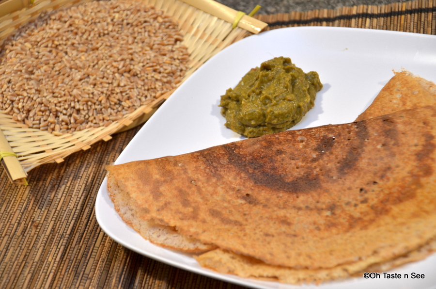 Wheat berry dosa 3