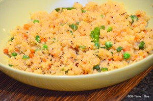 Quinoa Upma - A guest post for Krithi's Kitchen