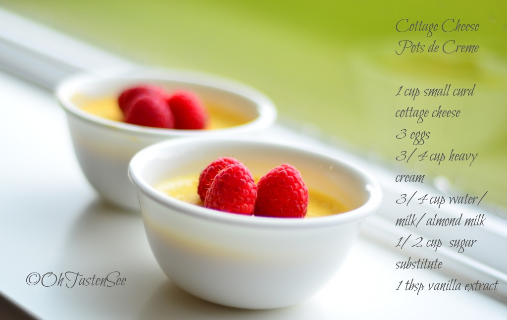 Cottage Cheese Pots De Cr 232 Me Low Carb High Protein Gluten Free Sugar Free Oh Taste N See