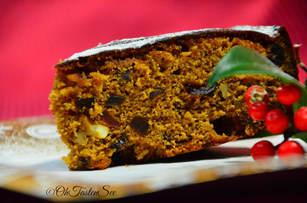 Christmas Special Fruit Cake Indian Style Plum Cake Oh