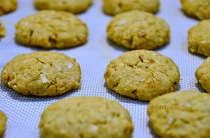 Sugar Free Anzac Biscuits - Whole wheat Sugar Free Oat Coconut Cookies