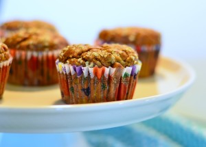 Whole wheat Banana Hemp Chia Seed Muffins