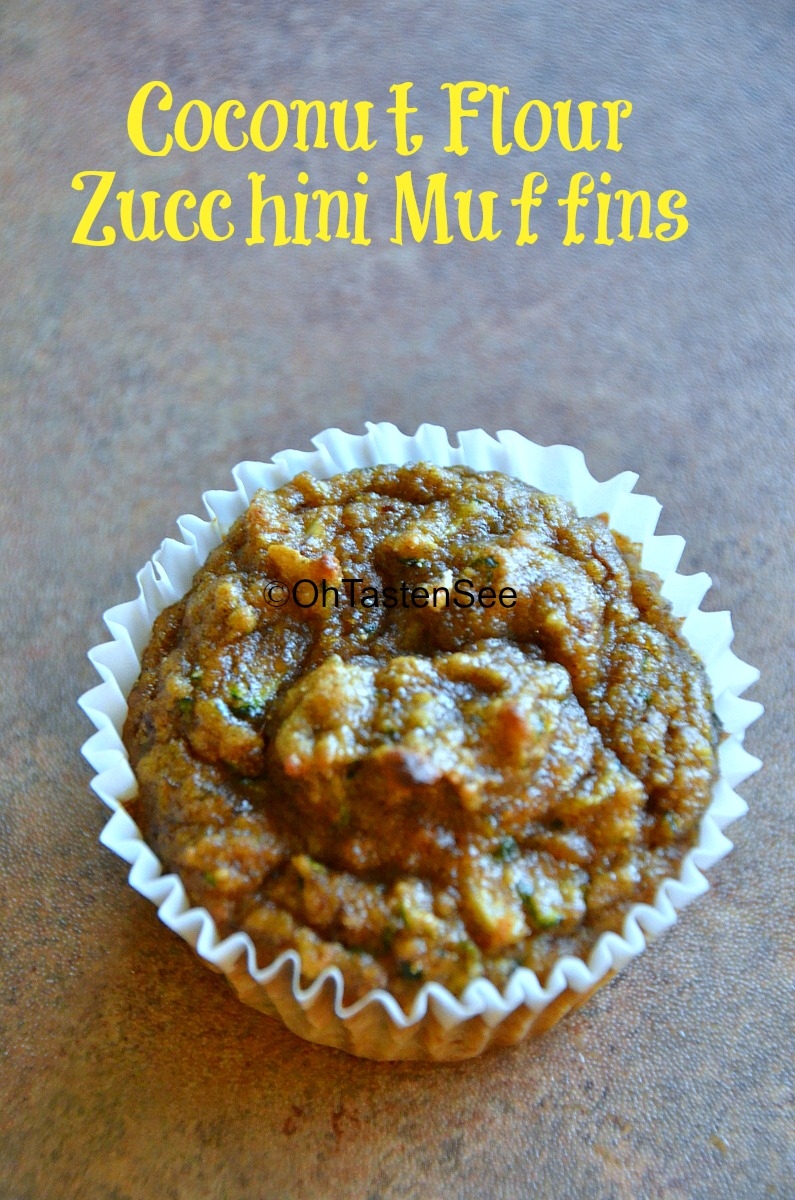 Coconut Flour Zucchini Muffins(Gluten Free/Refined Sugar Free/Low Carb ...