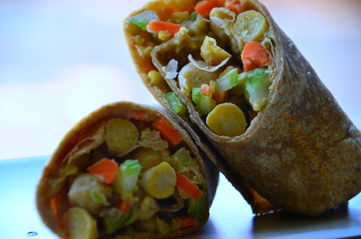 Chickpea Salad Wraps/Garbanzo bean Salad Wraps | Oh Taste n See.....