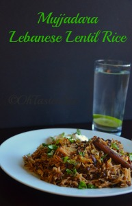 Mujadara - Lebanese Lentil Rice with Caramelized Onions