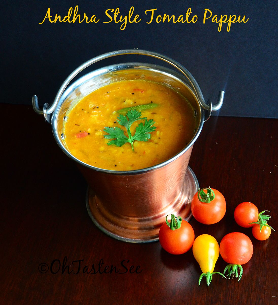 Instant Pot Tomato Pappu/Andhra style tomato dal in Instant