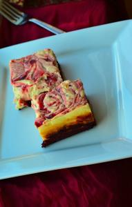 Strawberry Swirl Red Velvet Cheesecake Bars(Gluten Free/Sugar Free/Low Carb/Made with Almond flour)